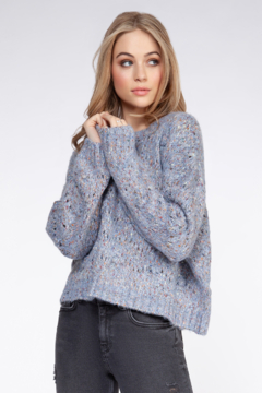 Shoptiques Product: Dusty Blue Confetti Sweater