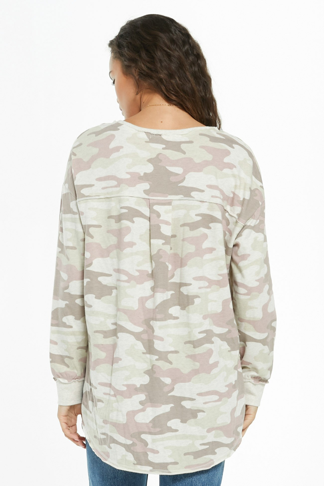 z supply Dusty Camo V-Neck Weekender - Side Cropped Image