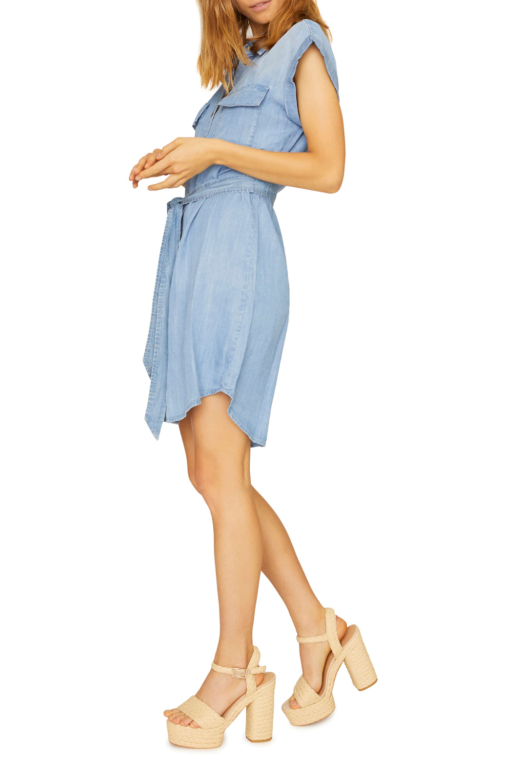 Sanctuary Dusty Denim Dress - Front Full Image