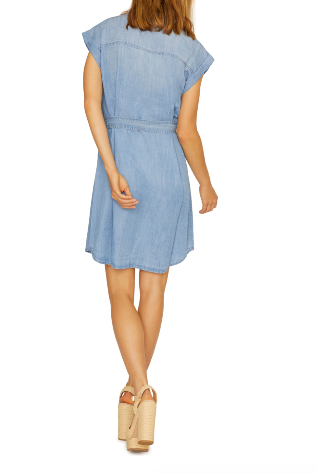 Sanctuary Dusty Denim Dress - Side Cropped Image