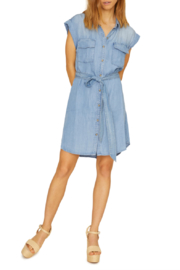 Sanctuary Dusty Denim Dress - Front cropped