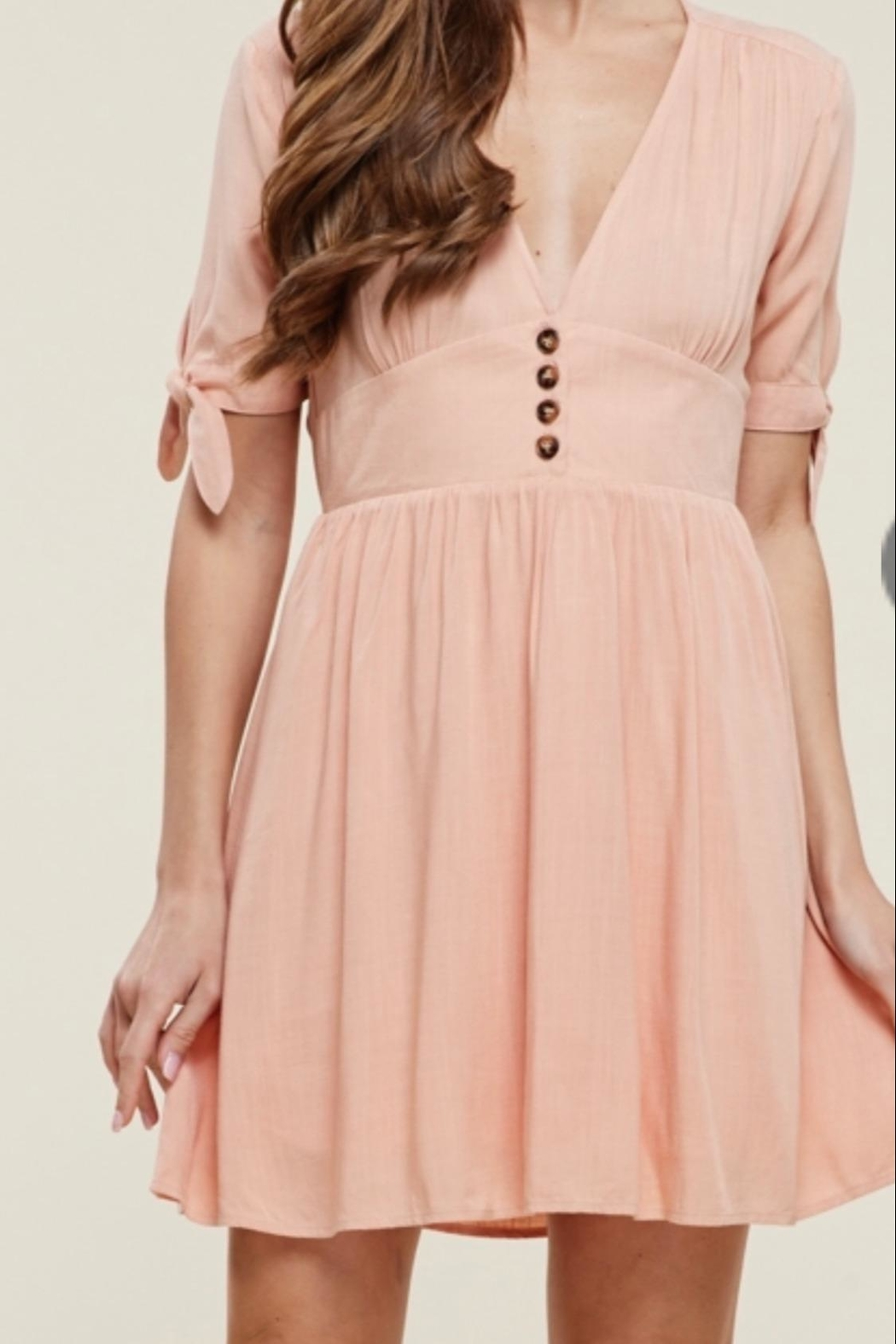 Staccato Dusty Peach Dress - Main Image