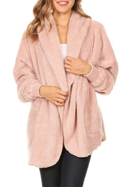 T Party Dusty Pink Bear Coat - Product Mini Image