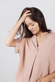 Mod Ref Dusty-Pink Oversized Top - Front full body