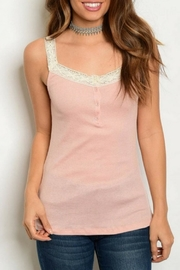 Hayden Dusty Pink Tank - Product Mini Image