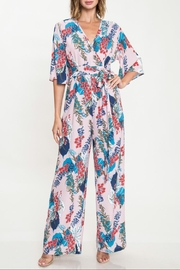 Latiste Dusty-Rose Floral Jumpsuit - Product Mini Image