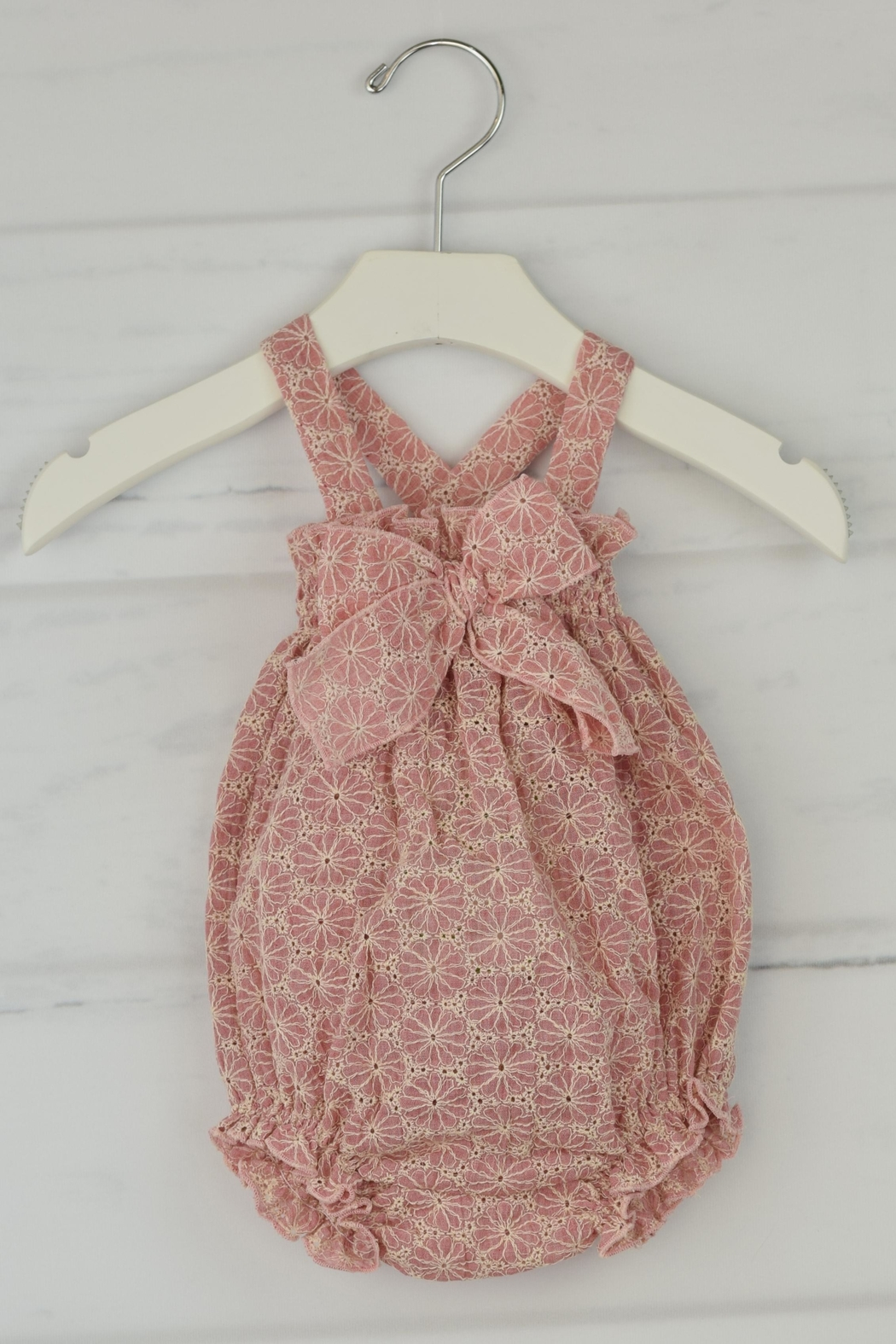 Granlei 1980 Dusty Rose Romper - Front Cropped Image