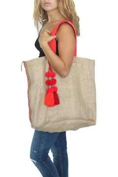 Shoptiques Product: Vintage Burlap Tote Bag