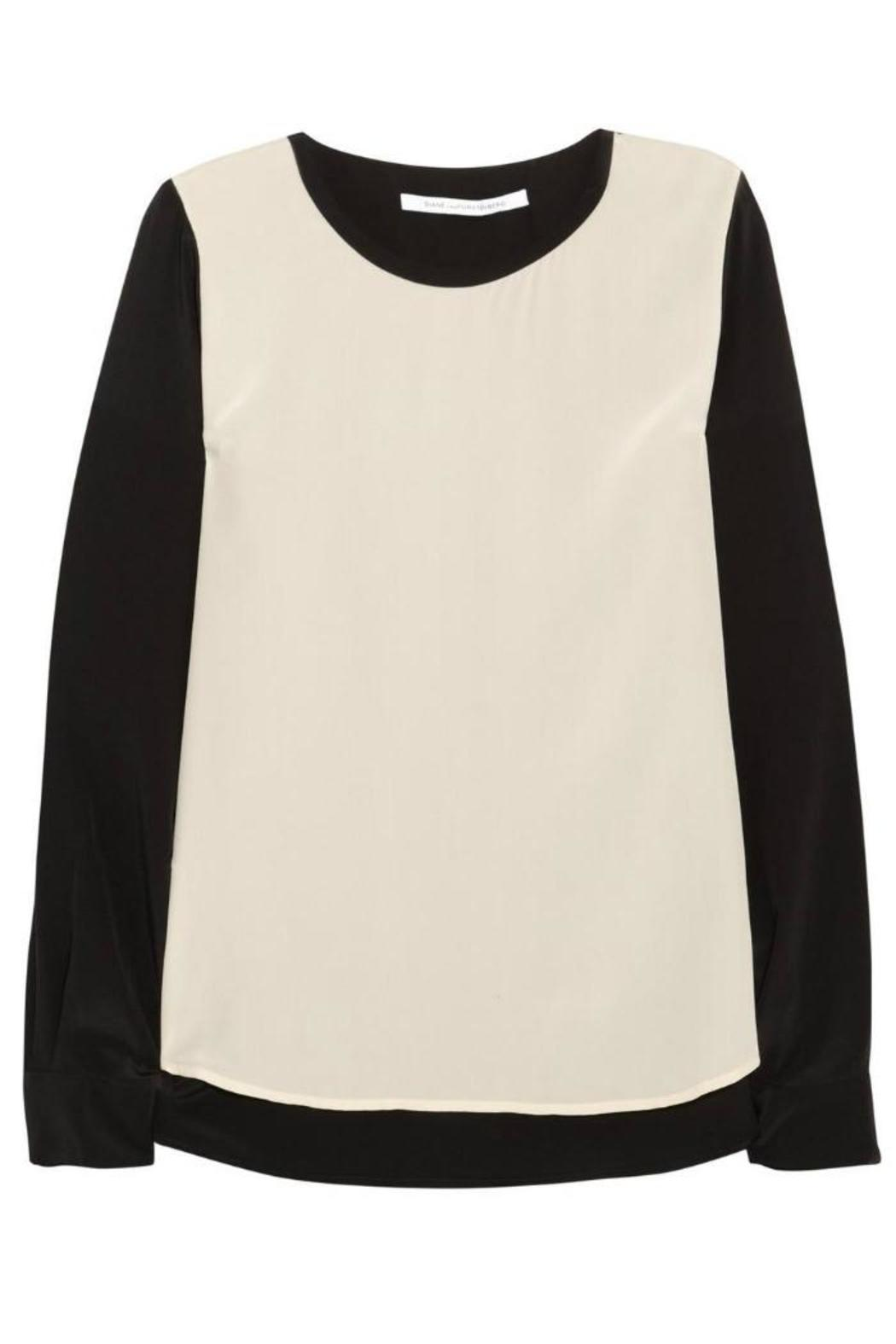 Diane von Furstenberg Louisa Silk Blouse - Side Cropped Image