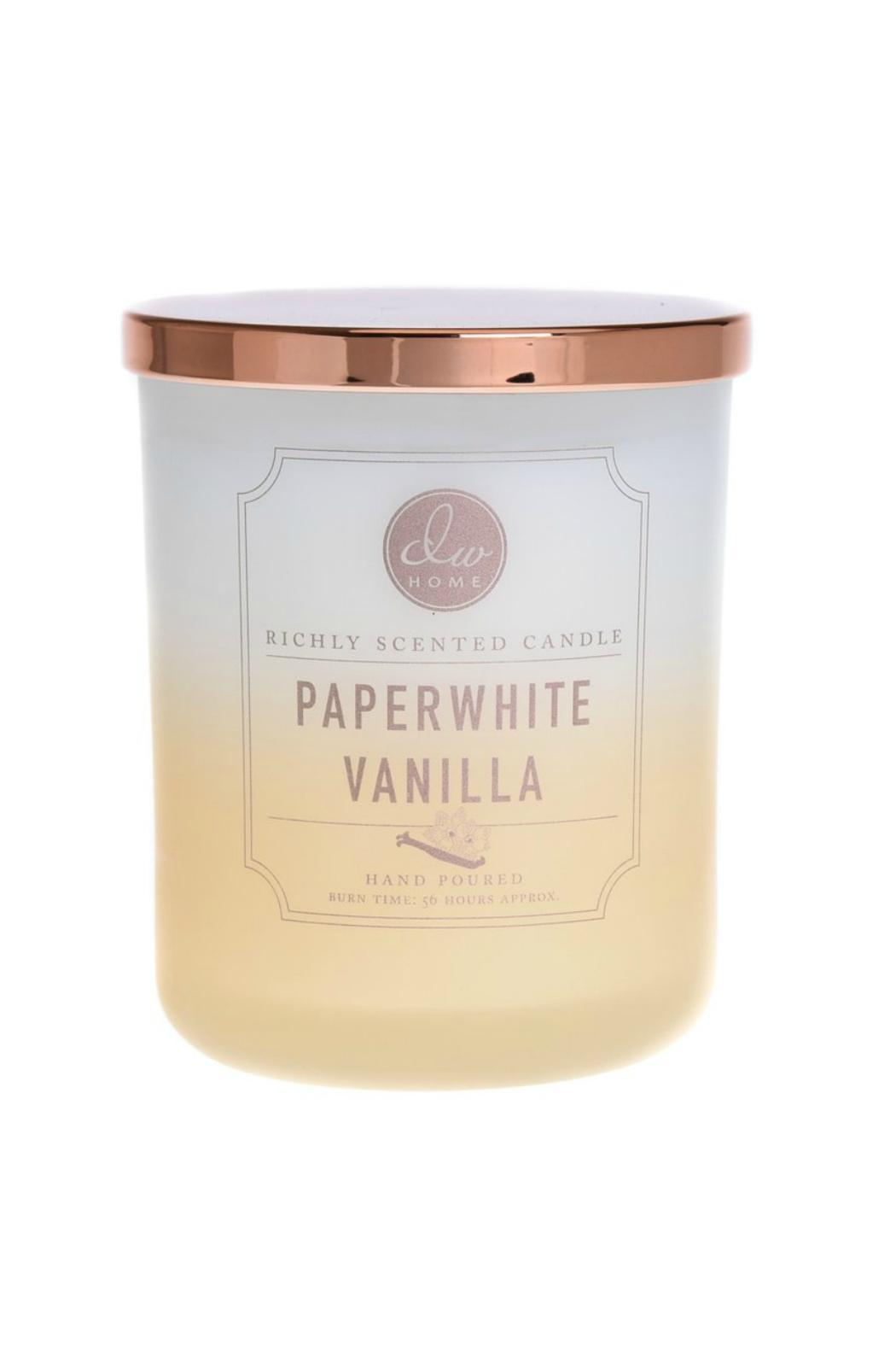 DW Home Large Paperwhite Vanilla Candle - Main Image