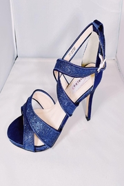Dyeables Navy Strappy Heel - Product Mini Image