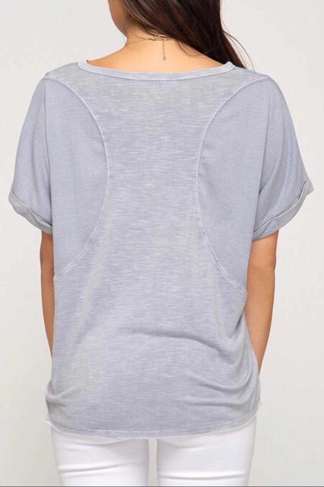 LuLu's Boutique Dyed Knit Top - Side Cropped Image