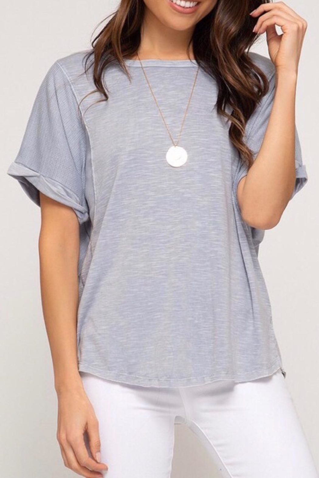 LuLu's Boutique Dyed Knit Top - Front Full Image