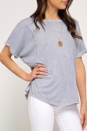LuLu's Boutique Dyed Knit Top - Front cropped