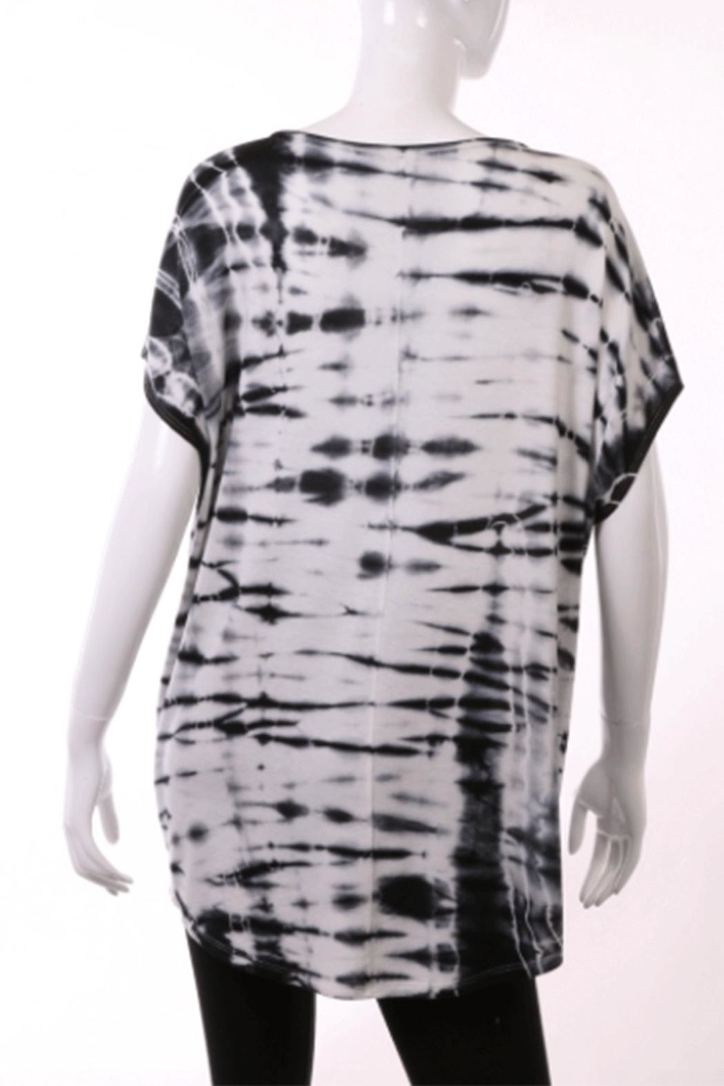 ENTI Dyed Round-Neck Top - Front Full Image