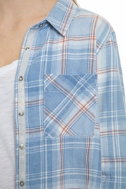 Dylan Blue Plaid Shirt - Side cropped