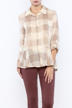 Dylan by True Grit Buffalo Plaid Blouse - Product List Image