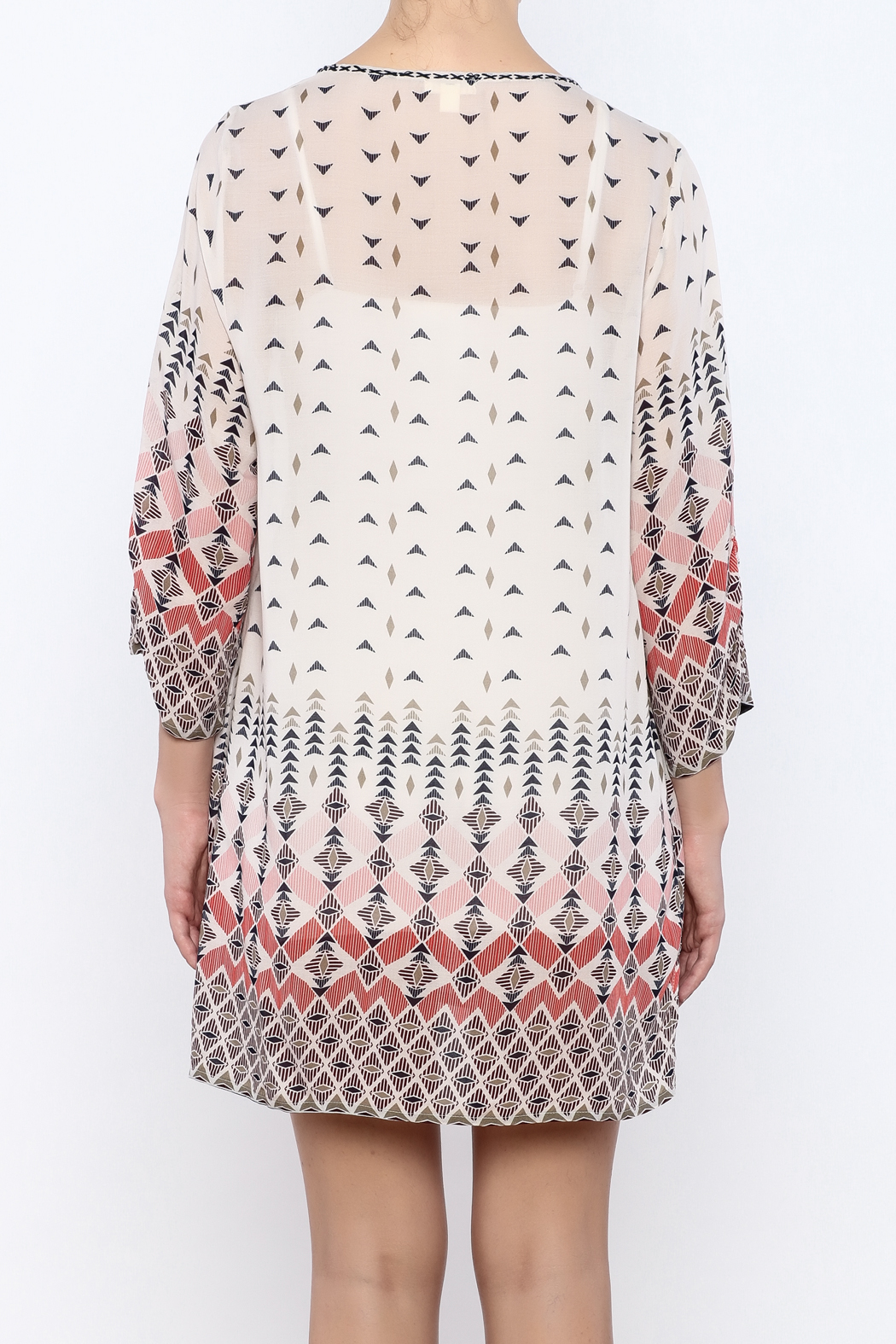 Dylan by True Grit Geometric Print Dress - Back Cropped Image