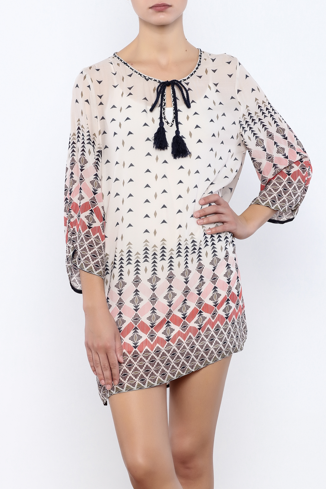 Dylan by True Grit Geometric Print Dress - Main Image