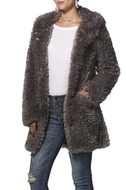 Dylan Charcoal Fuzzy Coat - Product Mini Image