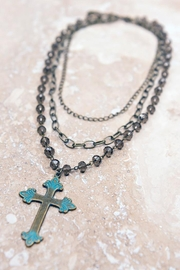 Dylan Cross Necklace Bronze - Product Mini Image