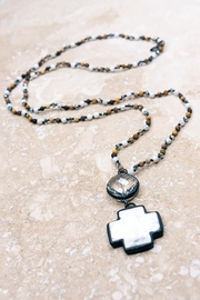 Dylan Crystal And Cross Necklace - Product Mini Image