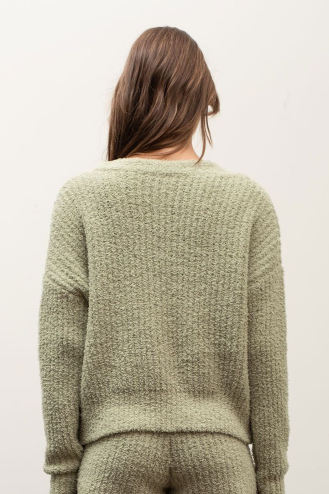 Moon River Dylan Furry Cardigan - Side Cropped Image