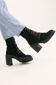 Free People Dylan Lace Up Boot - Front full body