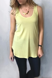 Dylan Lux Lemon Racer Back Top - Product Mini Image