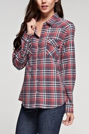 Love Stitch Dylan Plaid Top - Front full body