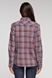 Love Stitch Dylan Plaid Top - Side cropped
