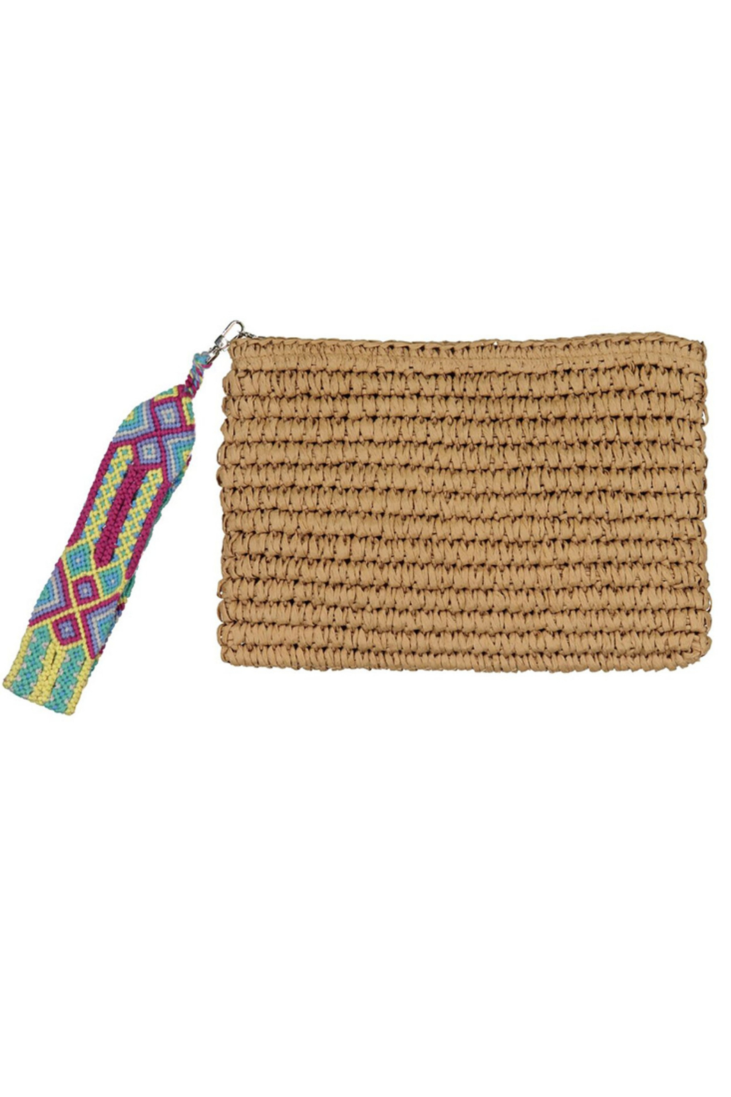 Fallon & Royce Dylan Straw Clutch - Front Cropped Image