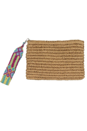 Fallon & Royce Dylan Straw Clutch - Front cropped