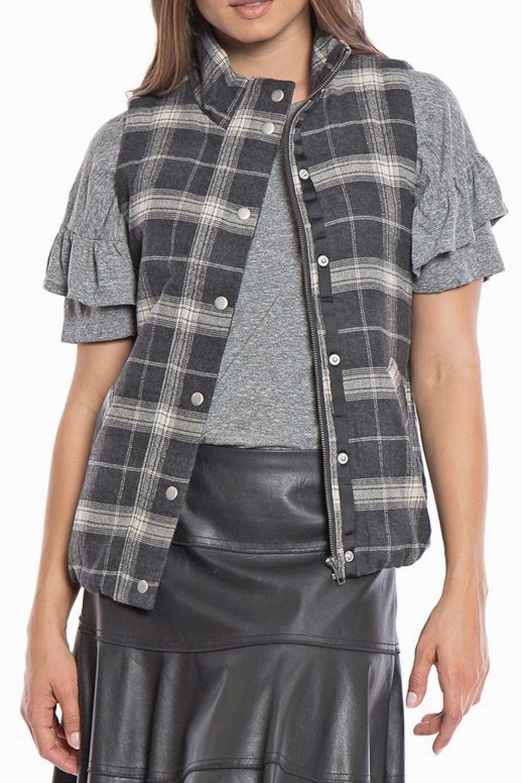 Dylan by True Grit Lined Flannel Vest - Main Image