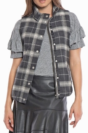 Dylan by True Grit Lined Flannel Vest - Front cropped