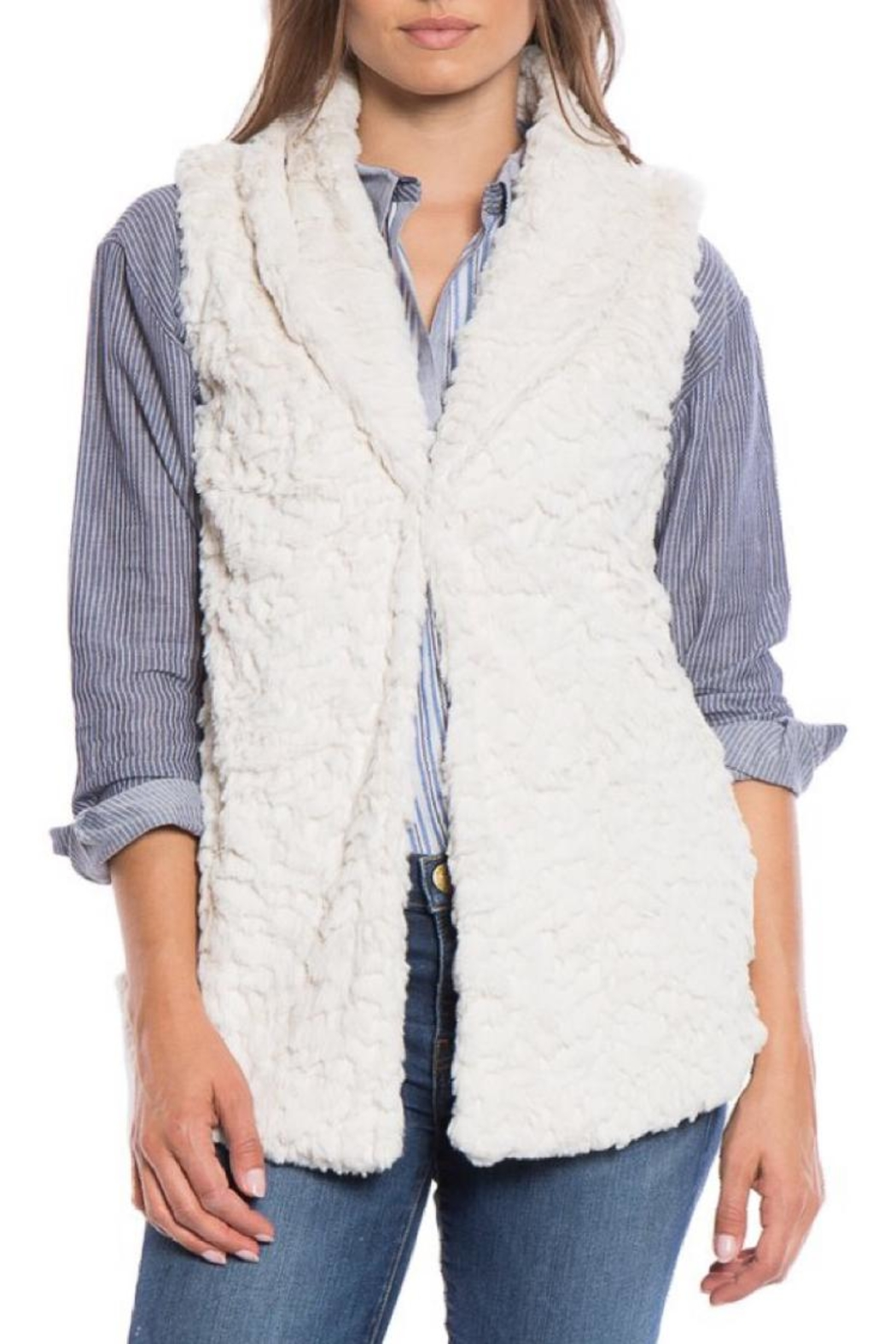 Dylan by True Grit Shawl Collar Vest - Main Image