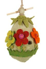 DZI Felted Flower Birdhouse - Product Mini Image