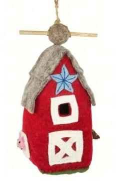 Shoptiques Product: Red Barn Birdhouse