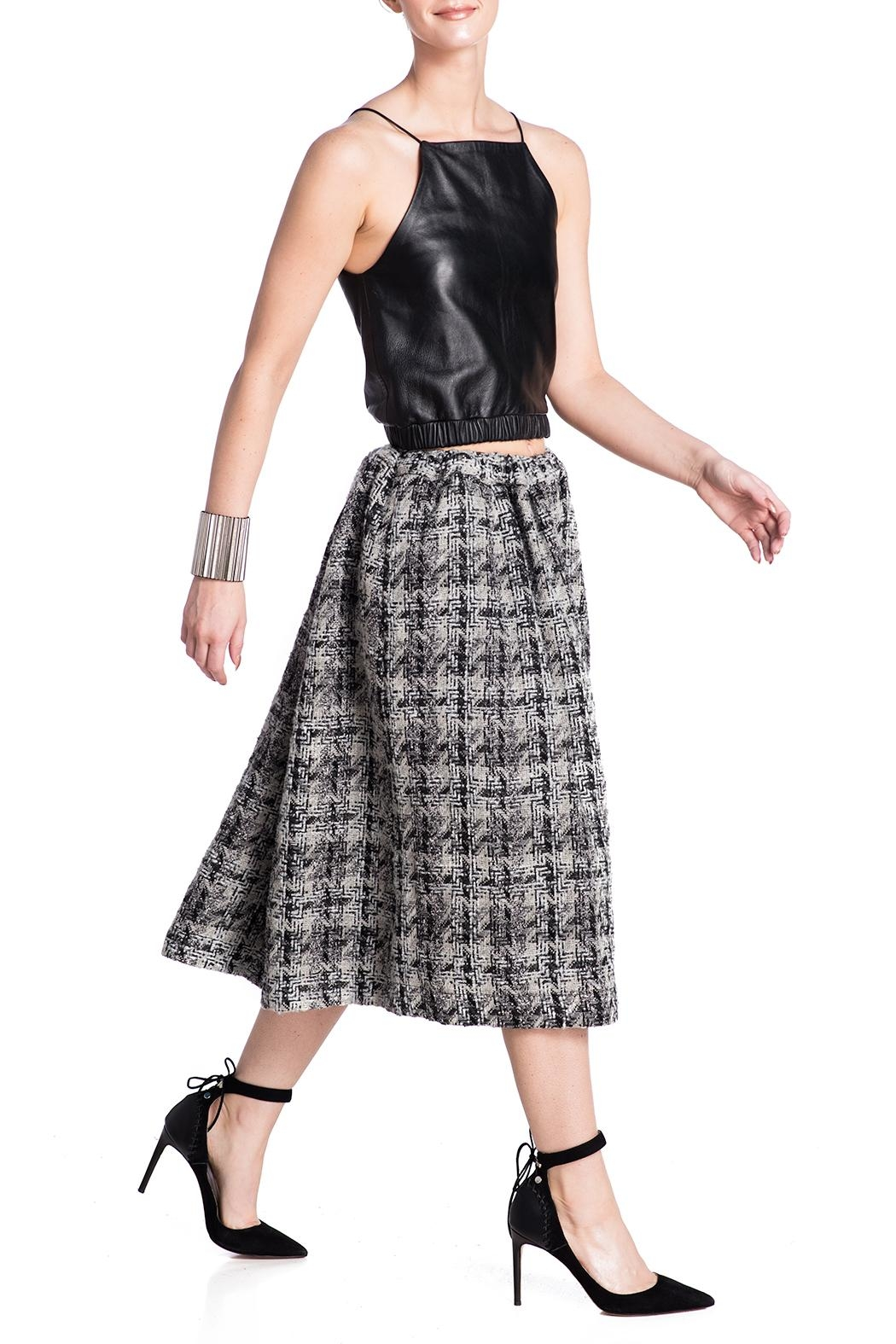 E. Tautz Pull Tie Wool Skirt - Front Cropped Image