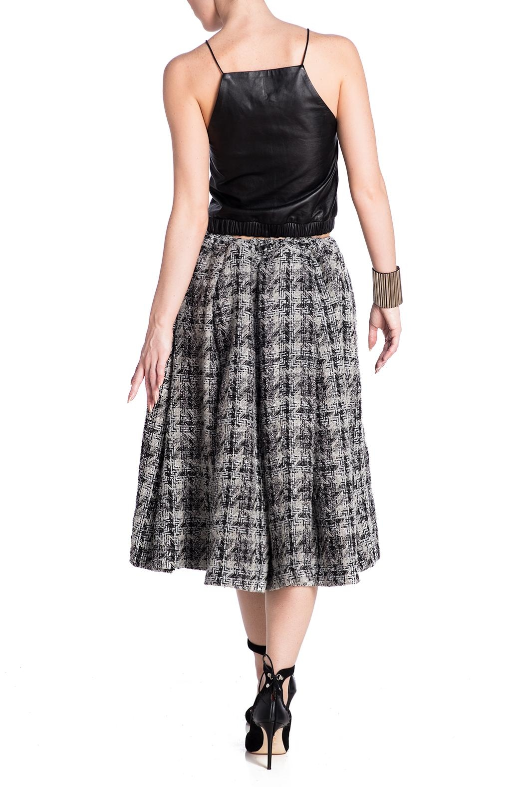 E. Tautz Pull Tie Wool Skirt - Back Cropped Image