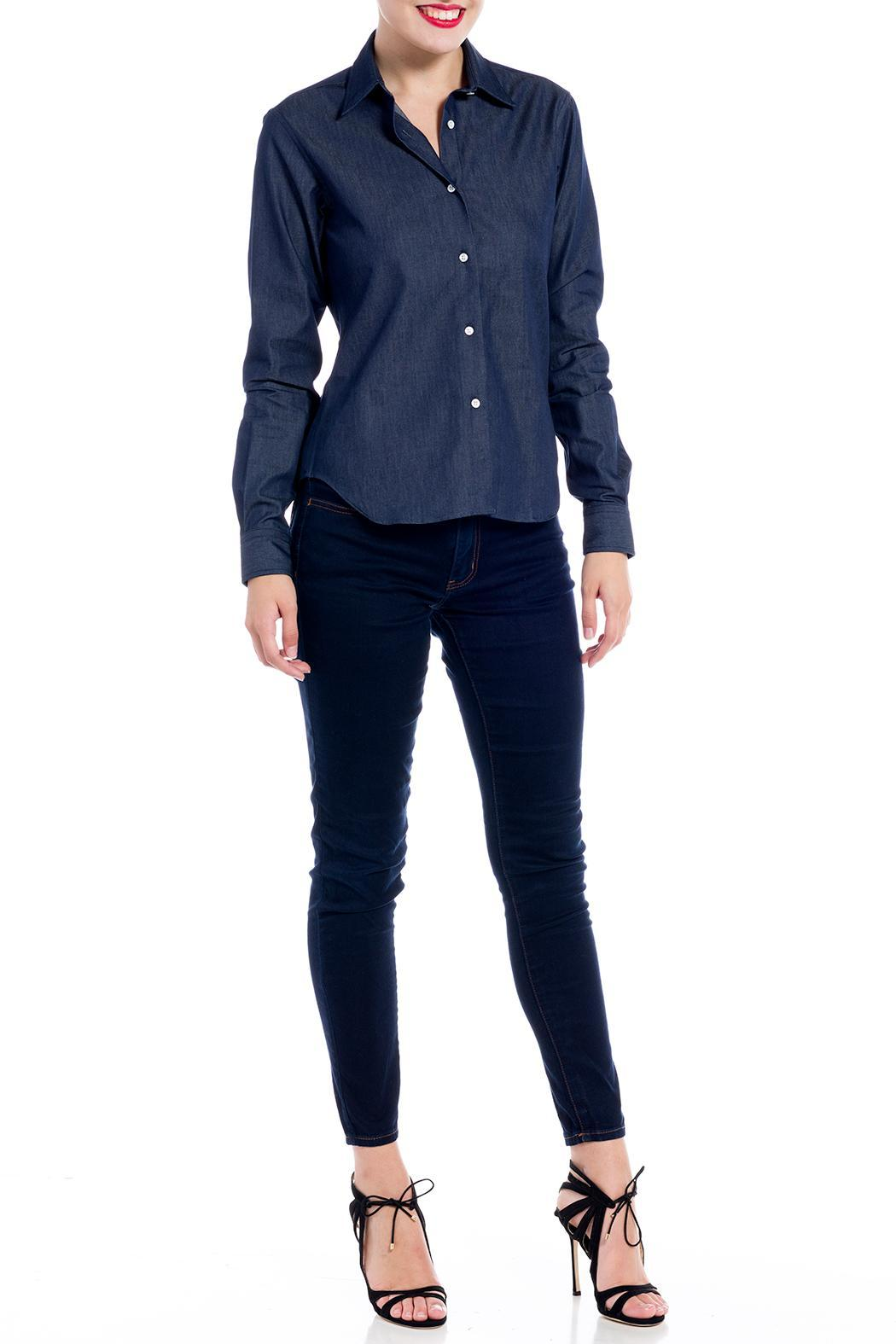 E. Tautz Raw Denim Shirt - Front Cropped Image