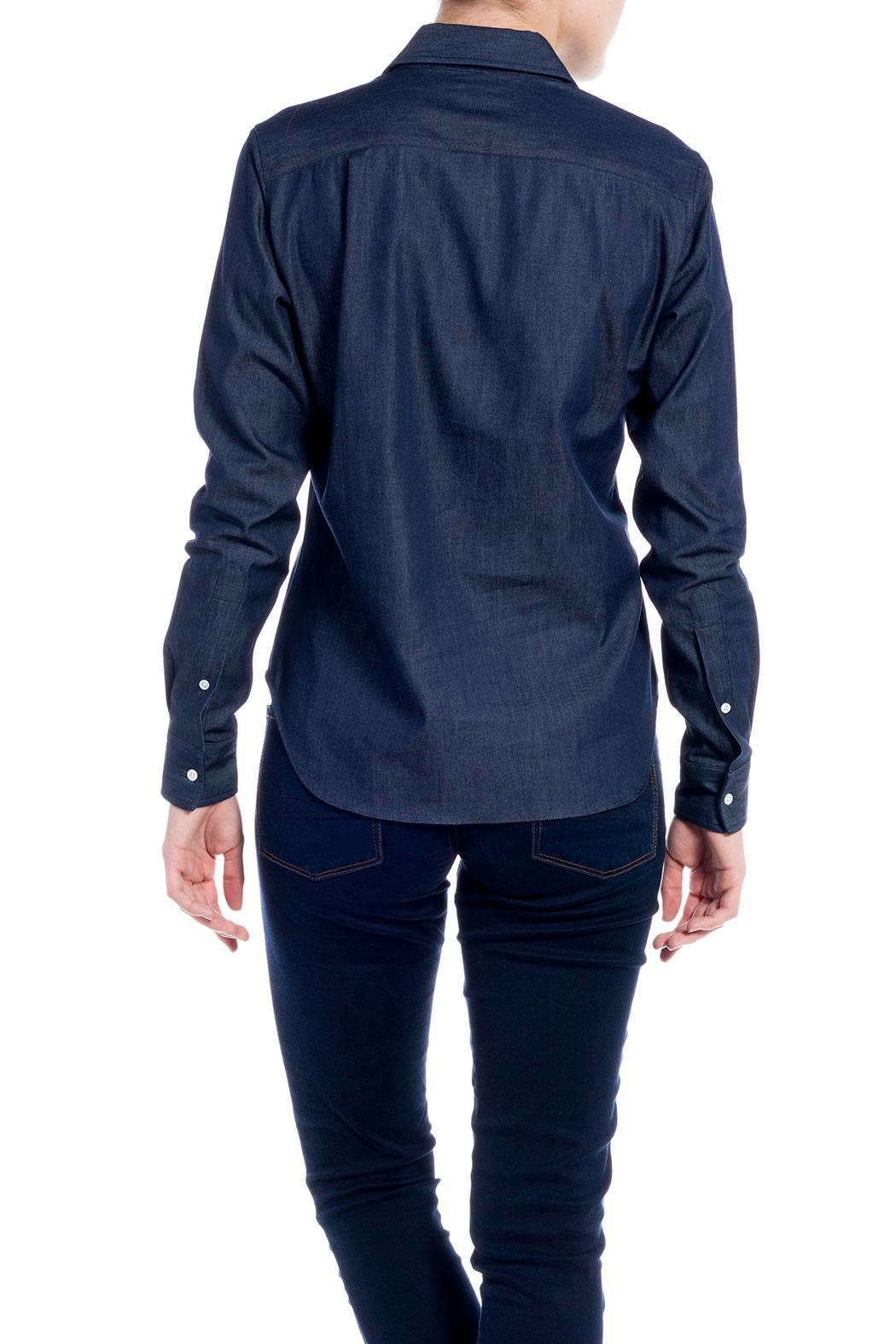 E. Tautz Raw Denim Shirt - Back Cropped Image