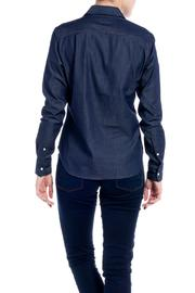 E. Tautz Raw Denim Shirt - Back cropped