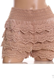 E&K CLOTHING Tiered Crochet-Lace Shorts - Product Mini Image