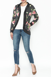E Luna Floral Hood Cardigan - Side cropped