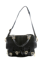 Shoptiques Product: Spiked Leather Satchel