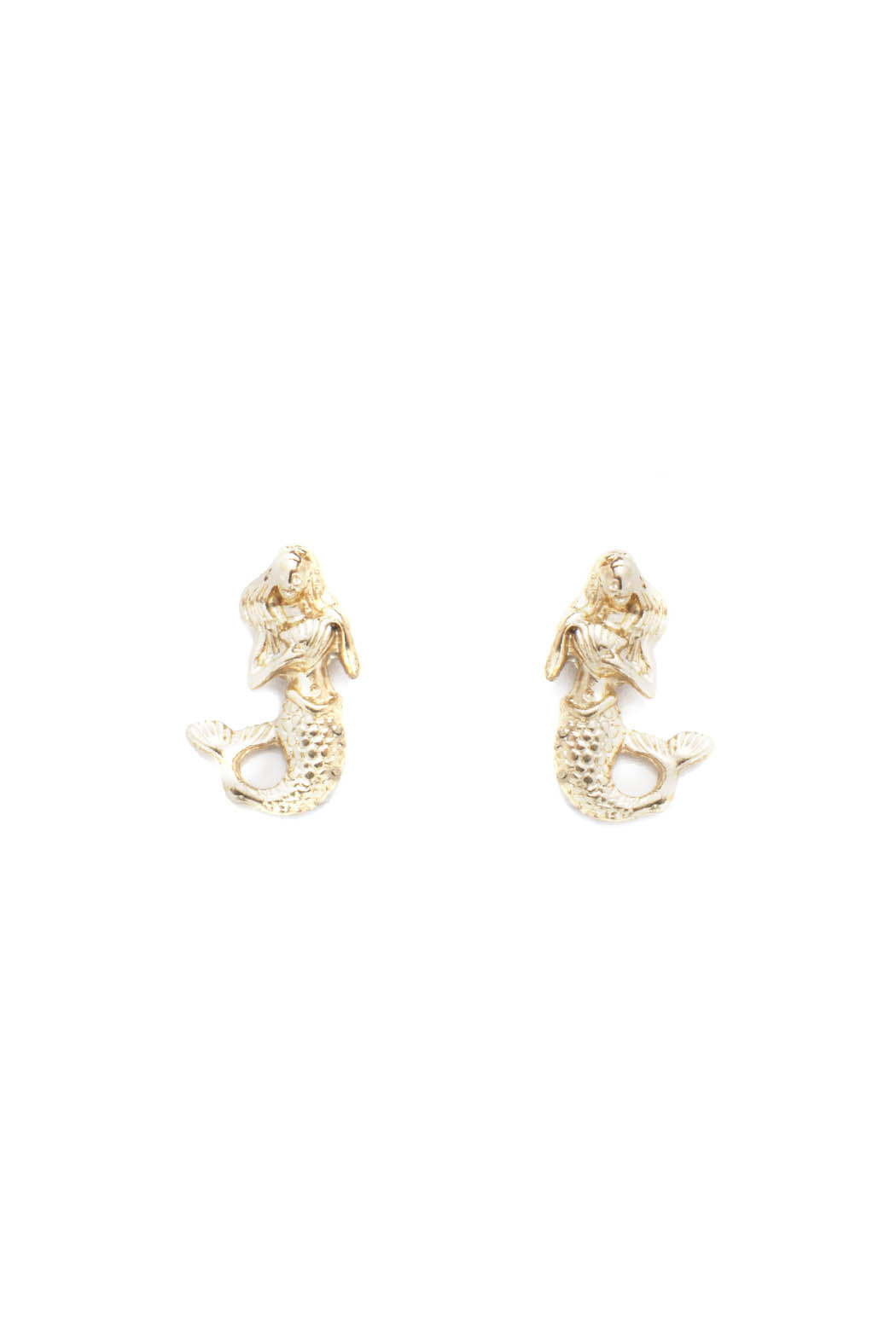 drift Mermaid Stud Earrings - Front Cropped Image