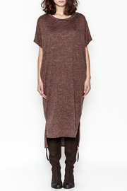 E2 Clothing Marled Sweater Dress - Front full body