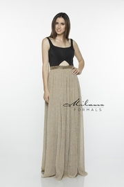 Milano Formals e2366 - Black & Gold Dress - Product Mini Image