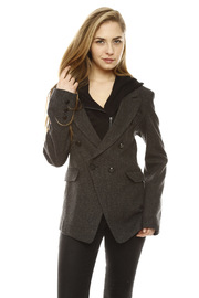 Shoptiques Product: Removable Hood Tweed Blazer